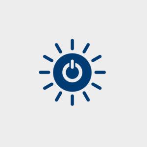 太陽と電源のマーク